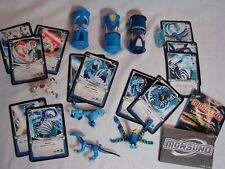 Jakks Monsuno Lot: of 12 Cards, 4 Figures Lock Airswitch Whipper & Longfang