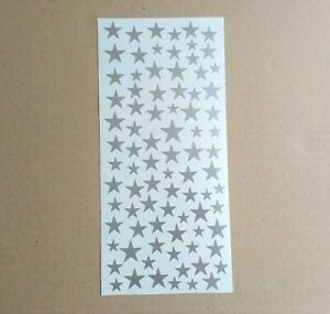 STAR Shapes Small Vinyl Stickers Mixed Size crafts home decor walls doors cars