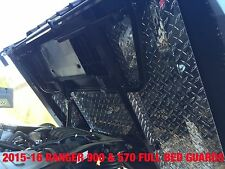2013 - 2014 FULL SIZE RANGER 900 BLK DIA PLATE UNDER BED MUD GUARDS