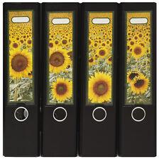 Design Ordner-Rückenschilder zum Einstecken breit - Motiv Sunflowers - IC-019