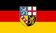 Flagge / Fahne Saarland Hissflagge 90 x 150 cm mit 2 Ösen