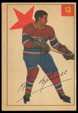 1954 55 PARKHURST 12 KENNY MOSDELL EX+ MONTREAL CANADIENS HOCKEY STAT BACK CARD