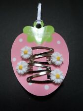 baby/girls mini/small hair clips  hair slides snap clips flower,daisy summer no1