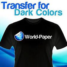 Premium Inkjet Heat Transfer Paper Super Soft Finish for Black Dark Fabrics :)