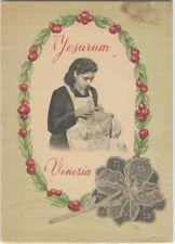 1920s Venice- Jesurum Lace School & Museum Folding Brochure - Italy Textile