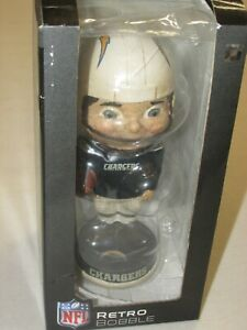 Los Angeles/San Diego Chargers Bobblehead * Retro * Forever Collectibles *