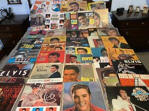 Joblot Collection Of Elvis Presley Albums Great Collection 50+albums All Listed