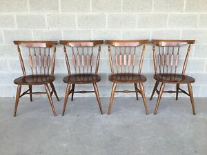 UNIQUE FURNITURE CATKIN BACK SOLID MAPLE SIDE CHAIRS (MCM) - SET OF 4