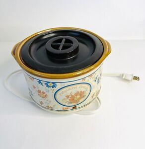 Vintage Rival Fragrance Potpourri Electric Crock Pot Fall Floral Model 3207 Box