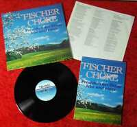 LP Fischer Chöre: Freu Dich der Dinge lebe und singe (Teldec 626303 AS) PR Mappe