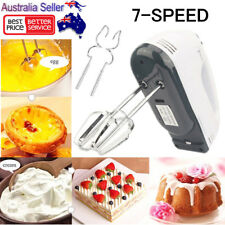 Auto Electric 7 Speed Handheld Food Whisk Blender Egg Cake Mixer Beater AU