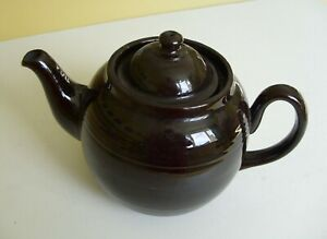 Traditional  Brown Glazed Teapot Ex. Cond.