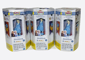 Play-Doh Mysteries Disney Frozen 2 Elsa Snow Globe Playset Lot of 3🔥🔥
