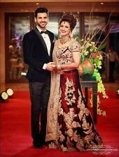 Designer Maroon bridal bollywood style lehenga  by  purple Oyster