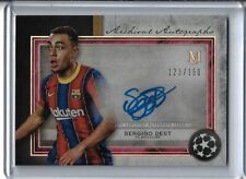 2020 21 Topps Museum Champions Soccer Sergino Dest AUTO #123/150 signed