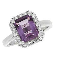 Anelli di lusso con gemme viola anniversario Diamante