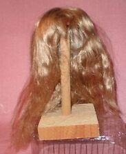 "Peluca de muñeca/12"" a 13"" de cabello humano Rubio Largo/echthaarper. Rubio 30/32 Lang Gewellt"