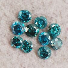 SI2-I2 Sparkling Natural Blue Diamond Lot 0.25CT Round Shape With Certificate
