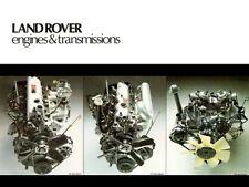 LAND Rover Serie-III MOTORE gamma BROCHURE POSTER Retrò Classico annuncio A3