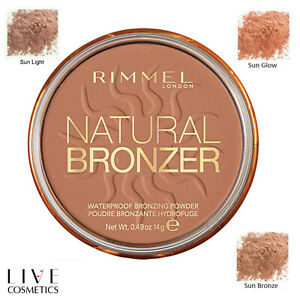 RIMMEL NATURAL BRONZER WATERPROOF PRESSED POWDER **CHOOSE YOUR SHADE**