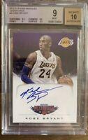 2012-13 Panini Marquee Signatures #4 Kobe Bryant Auto Autograph BGS 9