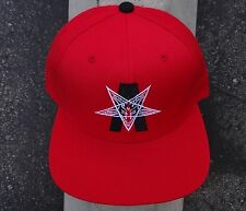 New Black Scale Skate Co. Dermord Red Mens Snapback Hat One Size HTBLK-44