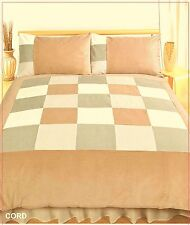 King Size duvet cover set Cable Marrón Latte Beige Crema Lino Ropa De Cama Pana