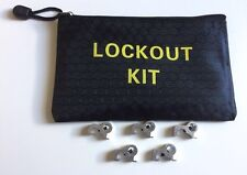 5 X MCB Circuit Breaker Lockout Lock Off With Bag.