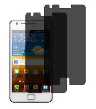 2 x Blickschutzfolie Samsung Galaxy S2 Privacy Displayschutzfolie Antispy Folie