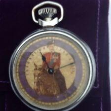 Railway Staff Queen Elizabeth Coronation Pocket Watch