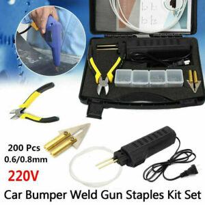 Auto Réparation Plastique Soudure Pistolet Véhicules PinceClou Souder Outil Kit