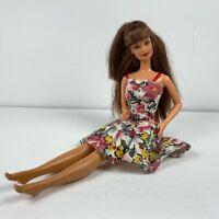 Vintage 90's Barbie Teresa Doll Brunette Hair Sundress 1990 Mattel Hispanic