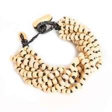 Handmade Wood Bead Thick Seed Bracelet Thai Women Costume Jewelry