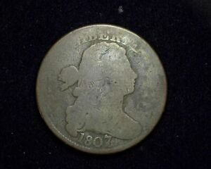 HS&C: 1807/6Large Cent Draped Bust Cent G - US Coin