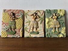 Vintage Hula Doll 3 types of wall hangings Hawaii Mid Century Hula Girl F/S