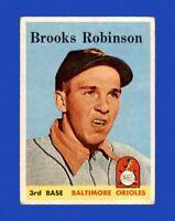 1958 Topps Set Break #307 Brooks Robinson VG-VGEX (crease) *GMCARDS*
