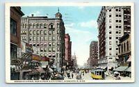 Minneapolis, MN - c1919 HENNEPIN STREET SCENE - TROLLEYS & SIGNS - POSTCARD - M7