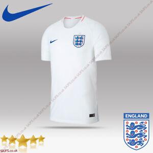 Nike England Breathe Strike T-Shirt White Home Kit JERSEY Vapor Match Shirt