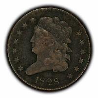 1828 1/2c Classic Head Half Cent - XF Details - SKU-Y3279