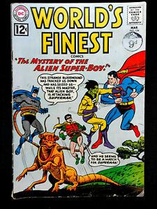 VINTAGE WORLDS FINEST DC COMICS ISSUE No.124 MAR 1962 SUPERMAN & BATMAN