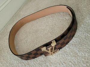 Louis Vuitton LV Initial Belt Monogram Leather for Men - Brown (M9608)