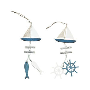 2Pcs Wooden Pendant Hanging Ornament Room Pendant Home Supply for Home Decor