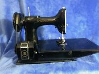 Vintage 1947 Singer Featherweight Sewing Machine 221 With Case & Accessories