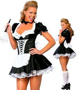 Costume Suit Good Woman Cleaning Waitress Soubrette Dress Holidays Carnival