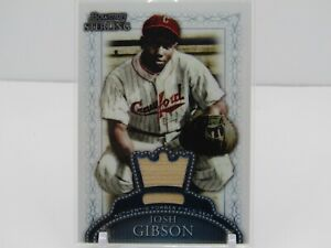 JOSH GIBSON 2005 BOWMAN STERLING AUTHENTIC FIELD SEAT- CRAWFORDS!