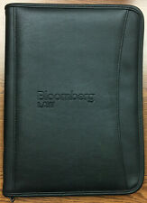 New Never Used Bloomberg Law Embossed Zippered Padfolio By Leeds Black
