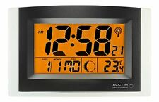 Acctim Strato Radio Controlled Smartlite Wall/Desk Clock Alarm And Snooze 74657