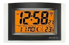 Reloj de pared Acctim Strato Smartlite controlados por radio/de sobremesa alarma y repetición de alarma 74657