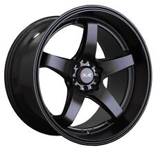 XXR 555 18x10 Rims 5x100/114.3mm +25 Black Wheels Fits 350z G35 240sx Rx8 Rx7