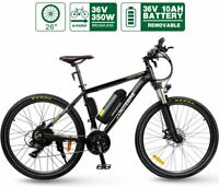 Electric Bike HOTEBIKE 26 Inch 350W Brushless Motor 36V 10AH Lithium Battery